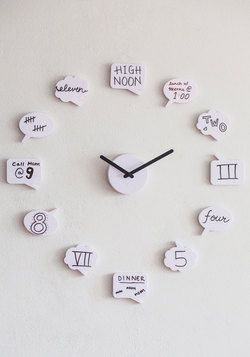 Tick Talk Clock, #ModCloth I think this would be fun for a week and then I'd just write the numbers on out of frustration