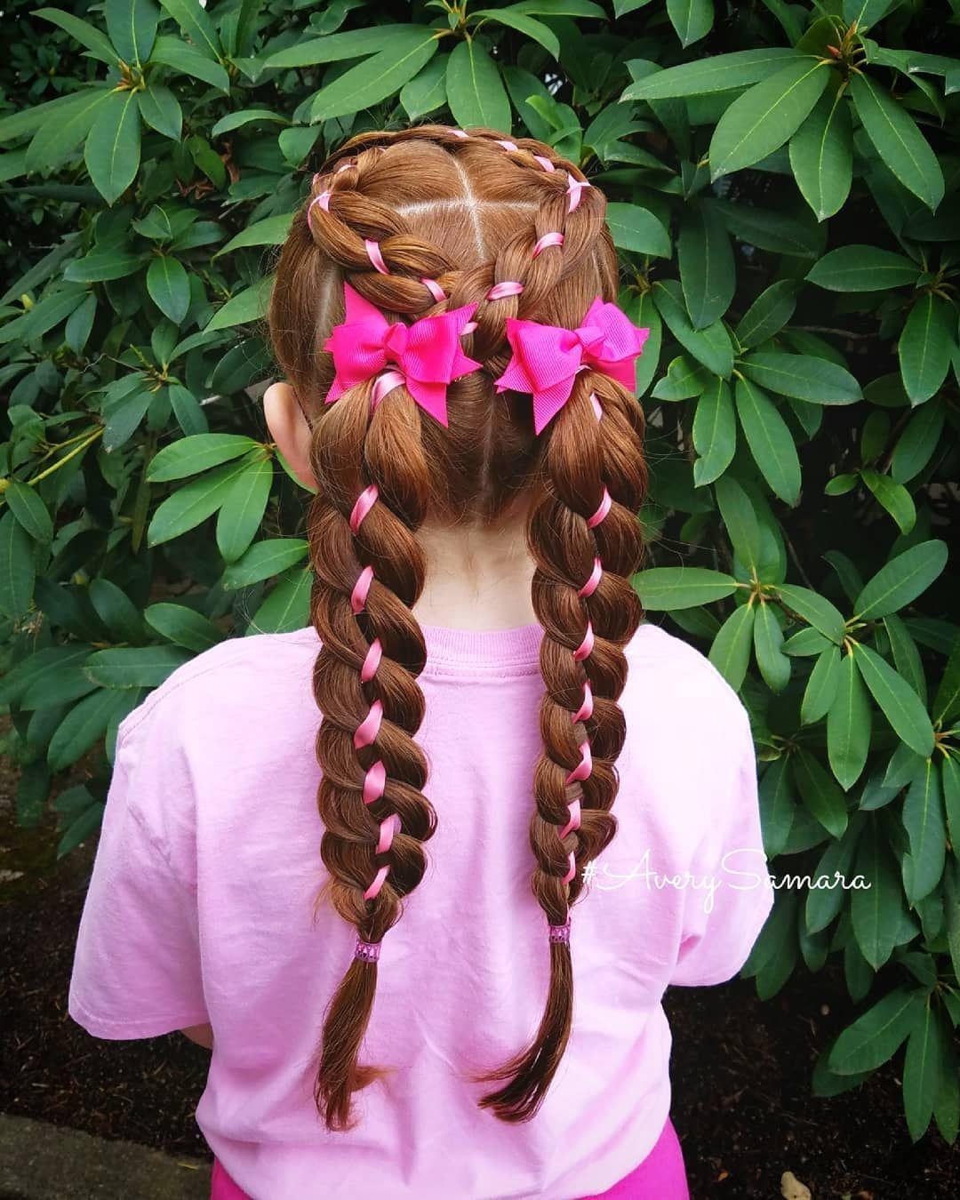Four strand ribbon braids four strand braid hairbows kidus