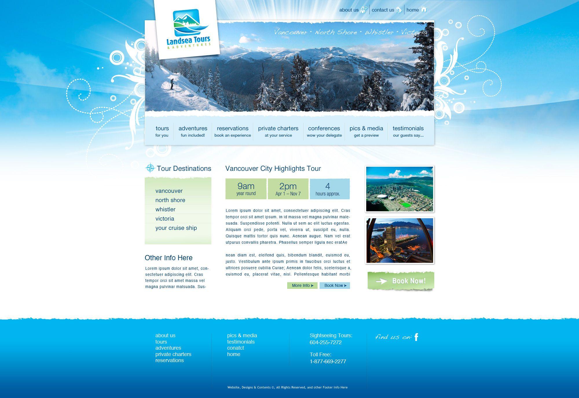 Web Design Web Design Destinations Vancouver Creation Site