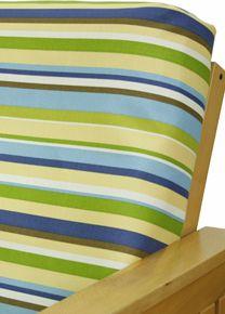 Futon Cover In Sunshine Stripe Fabric Is Horizontally Striped