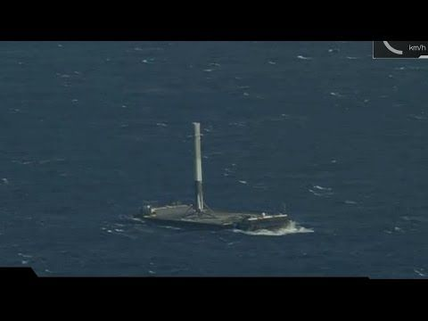 spacex falcon 9 launch with dragon successful landing at sea youtube