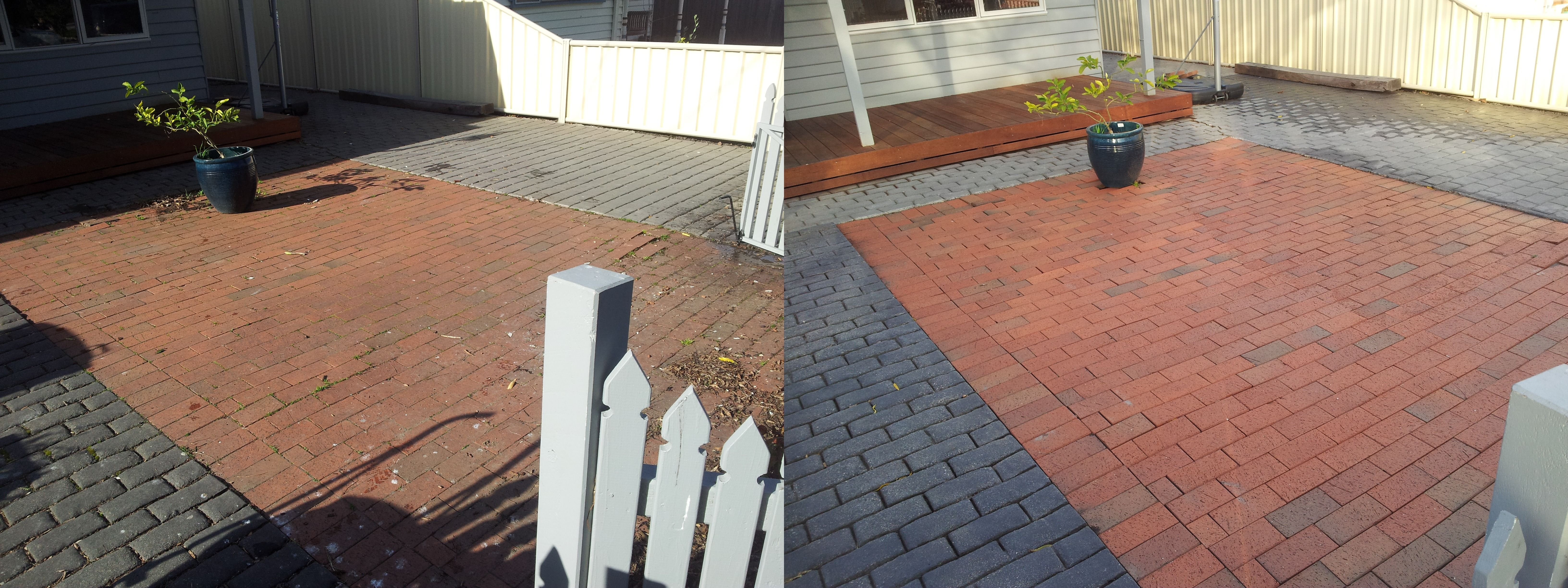 how to clean pavers outside