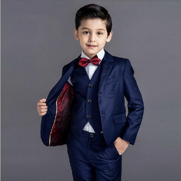5 Pcs/set Boys Prom Formal Dress Suit | Dress suits, Kids clothing ...
