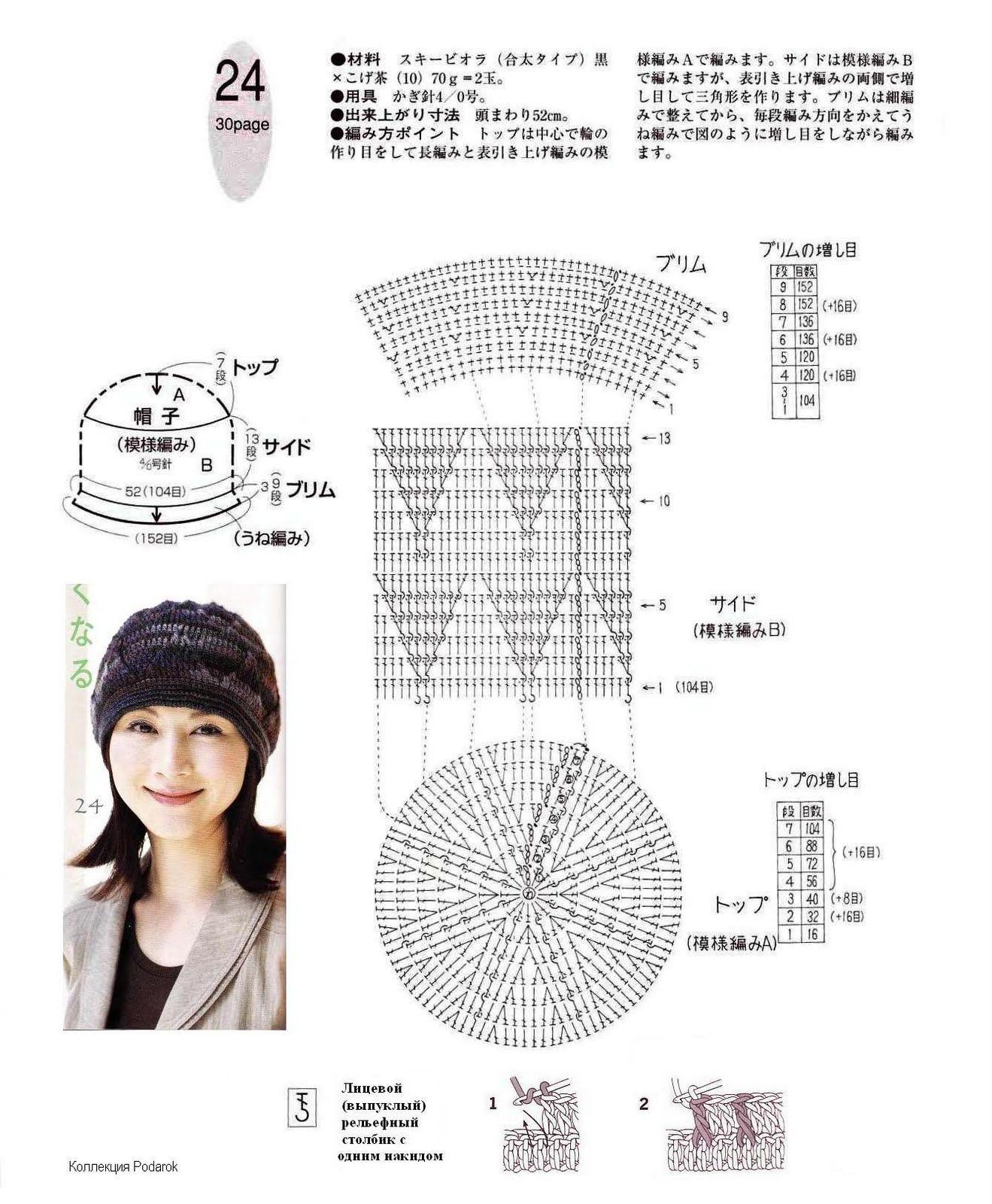 CARAMELO DE CROCHET: lilac japanese beanie | 모자 | Pinterest ...