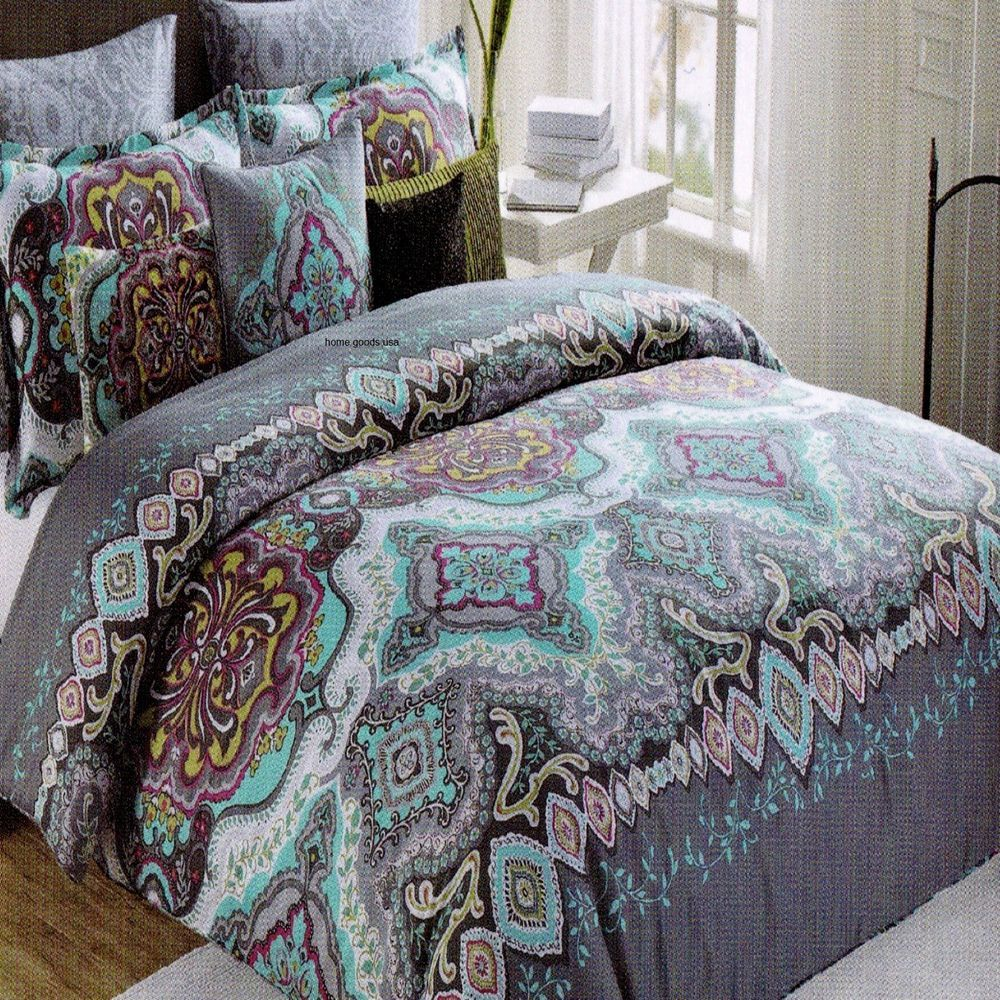 New 6pc King Comforter Pillows Set Max Studio Moroccan