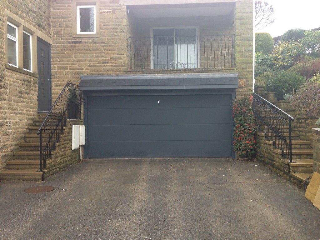 Hormann L Ribbed Sectional In Anthracite Grey By Abi Garage Doors Garage Doors Sectional Garage Doors Garage Door Installation