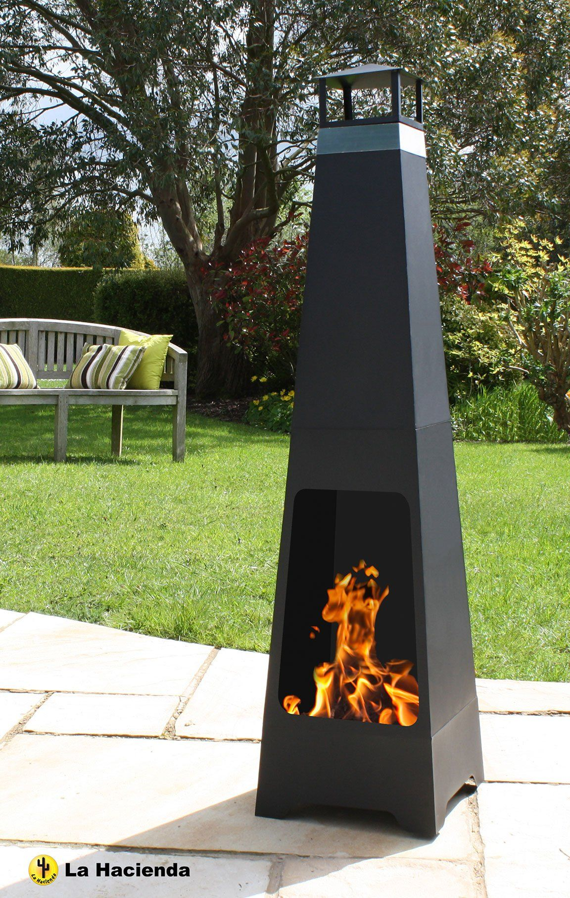 add a unique feature to your garden with this la hacienda chiminea