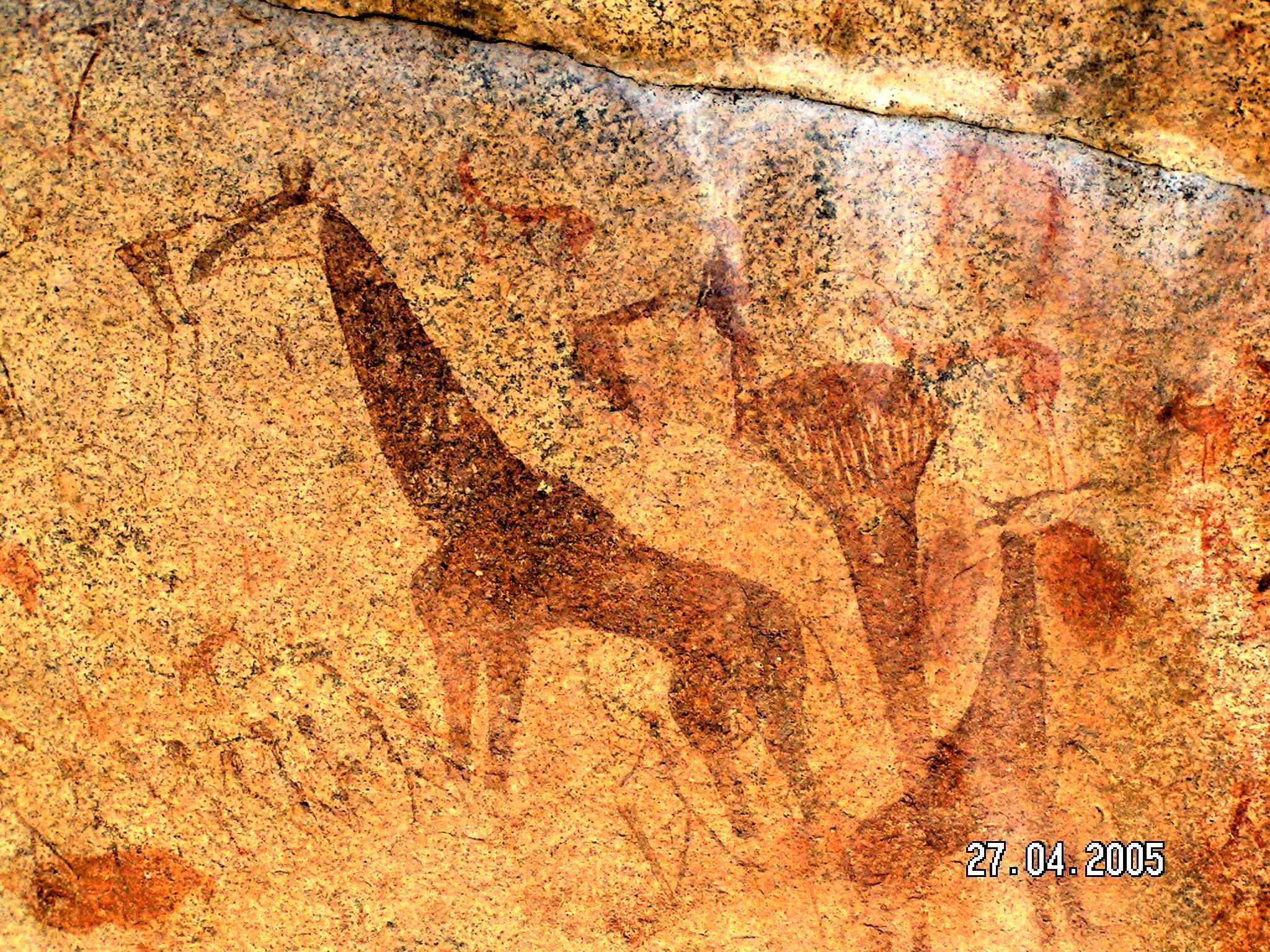 cave paintings in africa | Rock paintings from Namibia in Africa