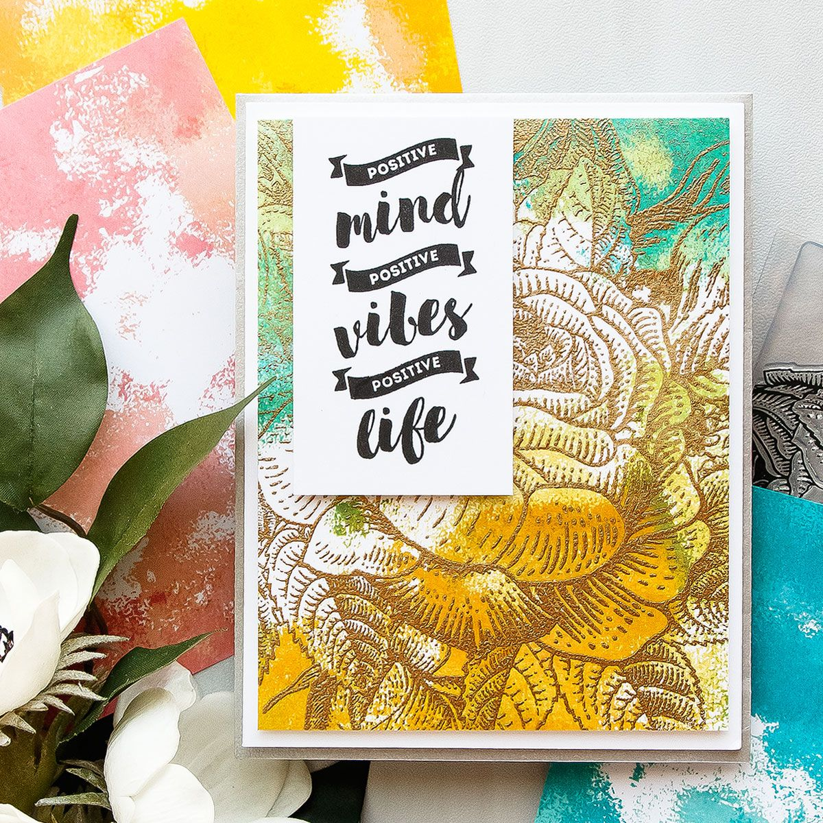 Brutus monroe stamped faux watercolor backgrounds