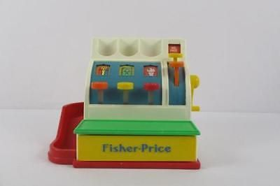 4c8ff578b51e Vintage 1990 Fisher-Price Toy Cash Register 2044 with United States ...