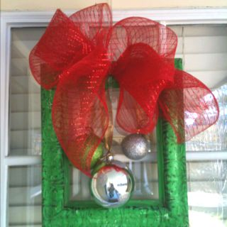 Frame wreath! Cute and very easy to make for the holidays!