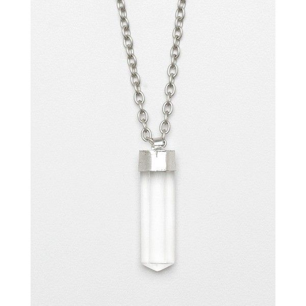 Natural Quartz Crystal Necklace ($22) ❤ liked on Polyvore featuring jewelry, necklaces, accessories, dresses, shoes, quartz necklace, quartz crystal pendant, quartz pendant, pendant necklace and crystal chain necklace