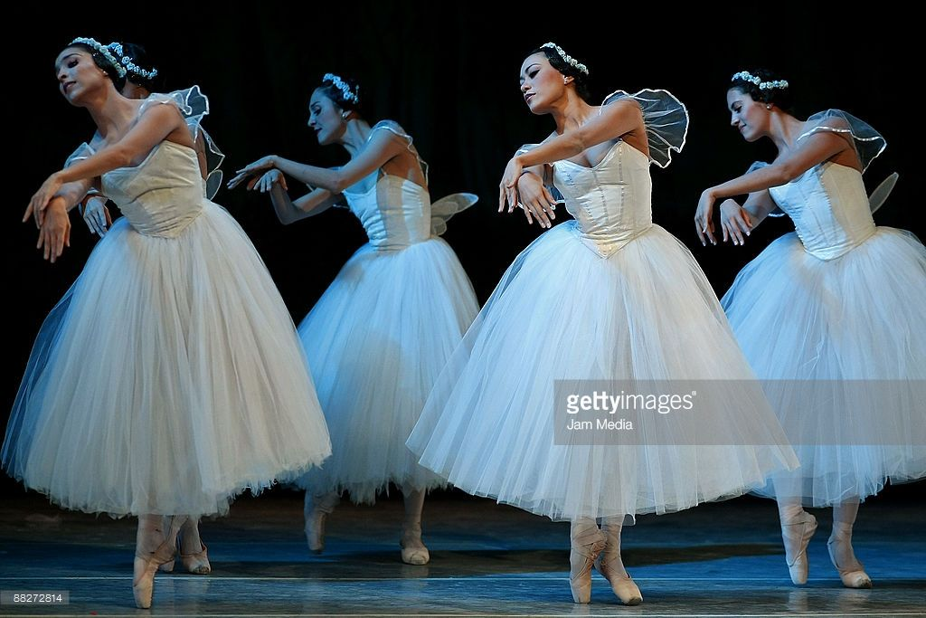 Ballet dancers of the national company of dance perform on June 5, 2009 in the Esperanza Iris Teather in Mexico City, Mexico.