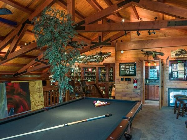 Man Cave With Pool : Hunting pool table room man loft inspirati men