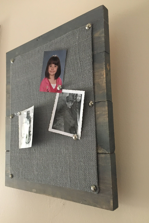 Command Center Office Organizer Magnetic Message Board Magnet Board 24 x 36 Grey Fabric Bulletin Board Photo Display Memo