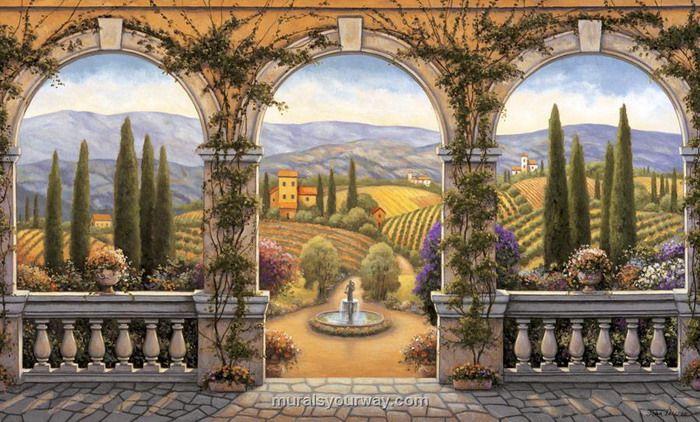 tuscan window mural italian wall murals wallpaper on wall murals id=84804
