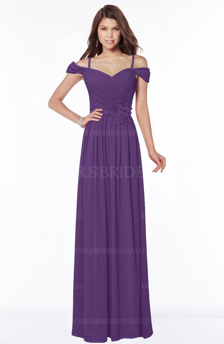 Pansy Luxury V-neck Short Sleeve Zip up Chiffon Bridesmaid Dresses ...