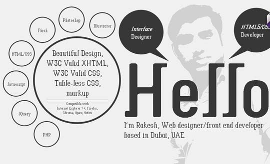 45 Fresh And Inspiring Examples Of Big Typography In Web Design Web Design Personal Website Inspiration Web Layout Inspiration