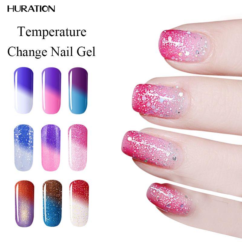 Huration 8ml 29 Color UV led Nail Polish Thermal Chameleon ...