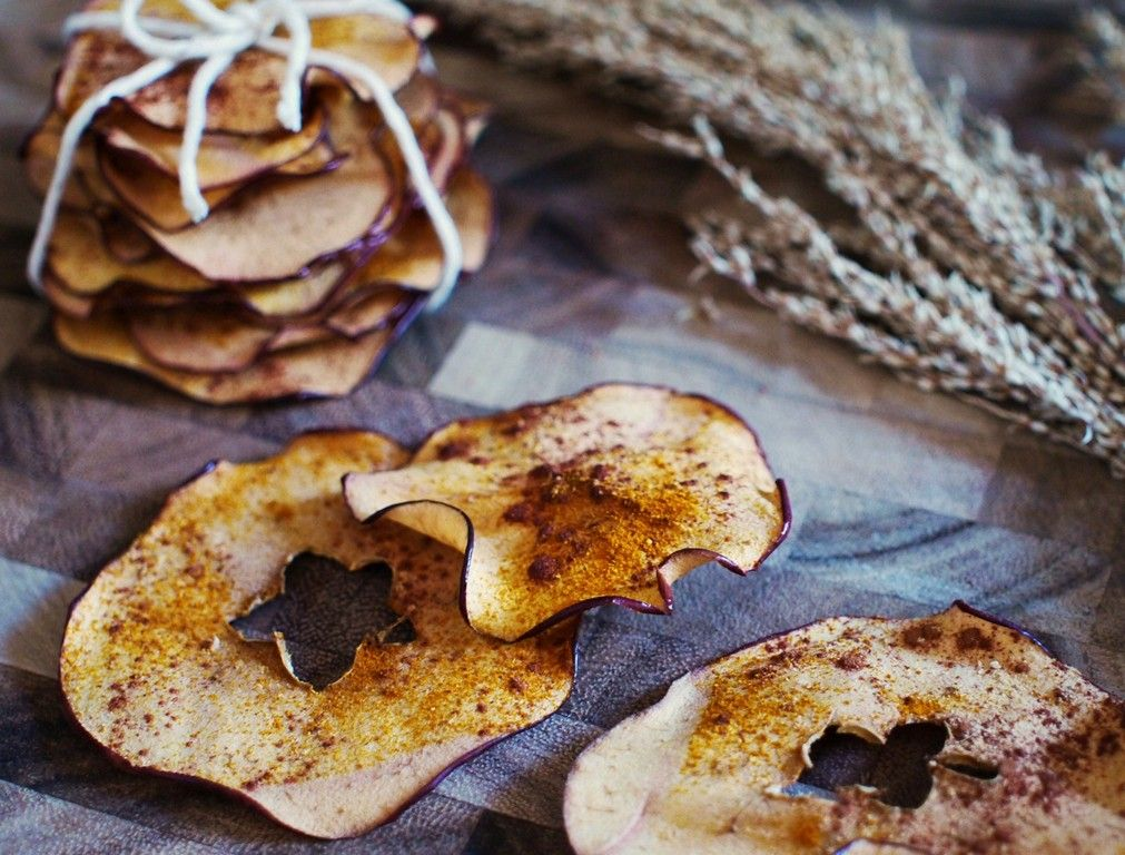 Turmeric Apple Chips