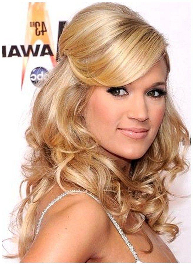 I like her bangs (With images)   Wedding hair down, Bridesmaid hairdo, Bridesmaid hair