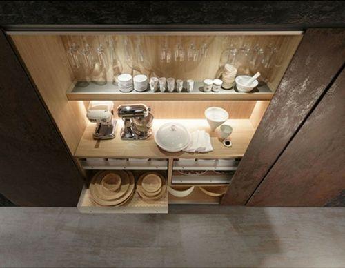raue ausgefallene küchen designs regale geschirr teller | küche ... - Ausgefallene Geschirr Und Bucherschrank Designs