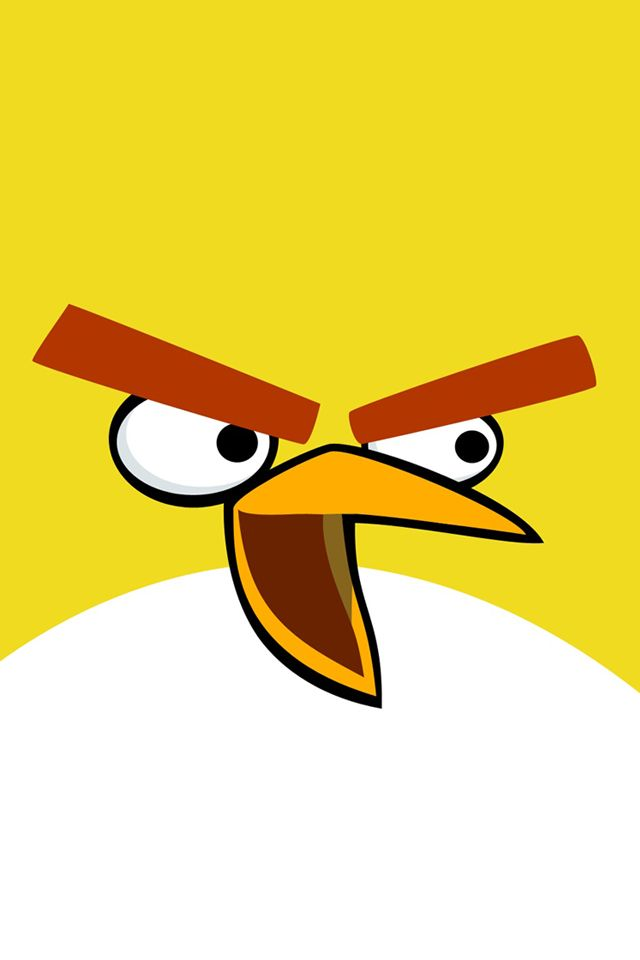 yellow phone | Angry Birds Yellow Bird | iPhone Wallpapers ...