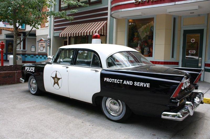 Vintage police car at Dollywood! dollywood smokies