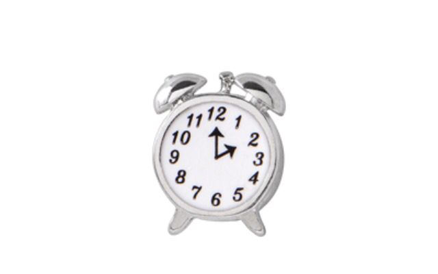 #Time waits for no one, so hurry and add this hand painted enamel #vintage #clock charm to your locket.