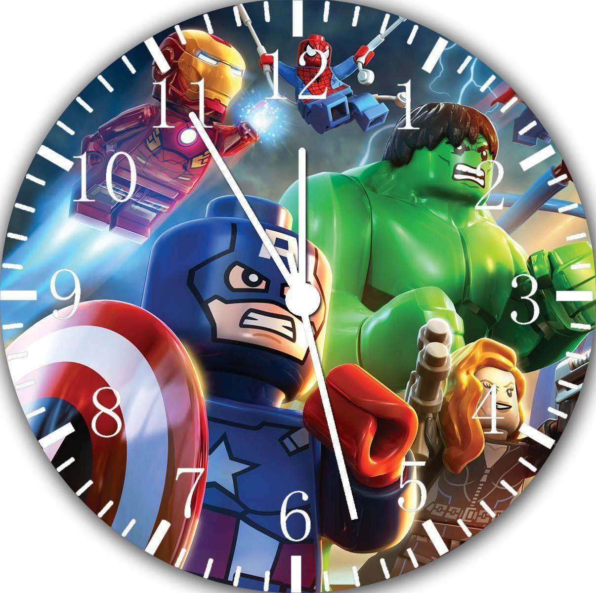 Lego super hero avengers hulk wall clock 10 will be nice gift and lego super hero avengers hulk wall clock 10 will be nice gift and room wall amipublicfo Images