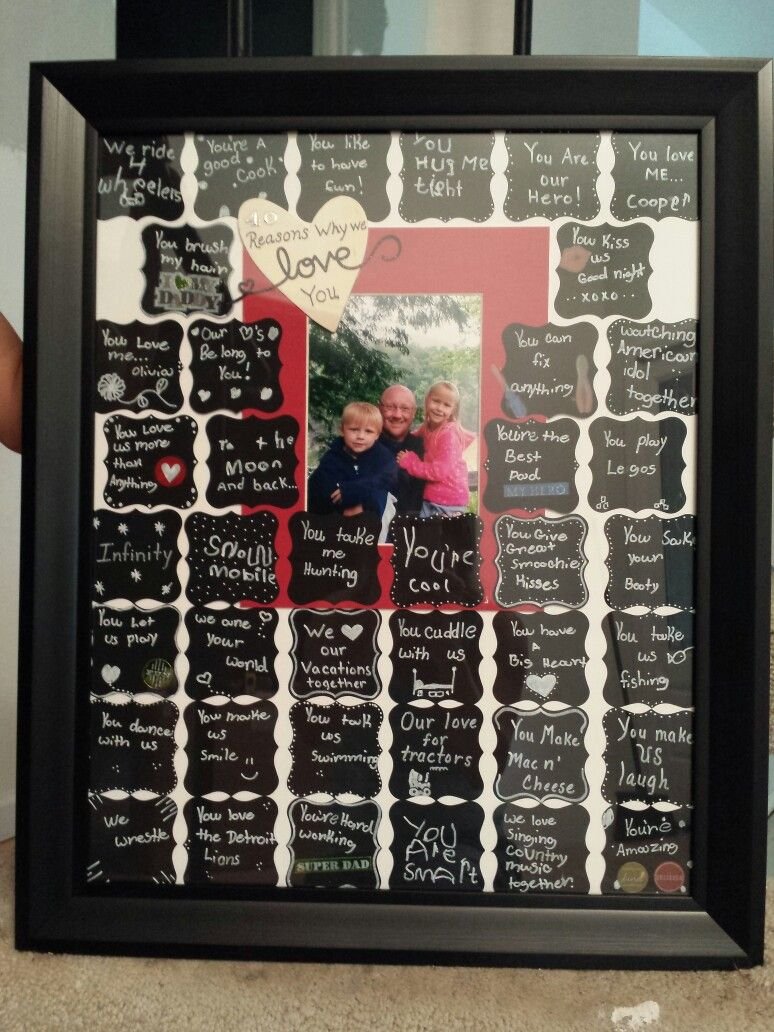 40th Birthday Gift40 Reasons Why We Love You Written In The Kids Own Handwriting 8 2014