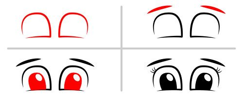 Learn how to draw a simple set of eyes.