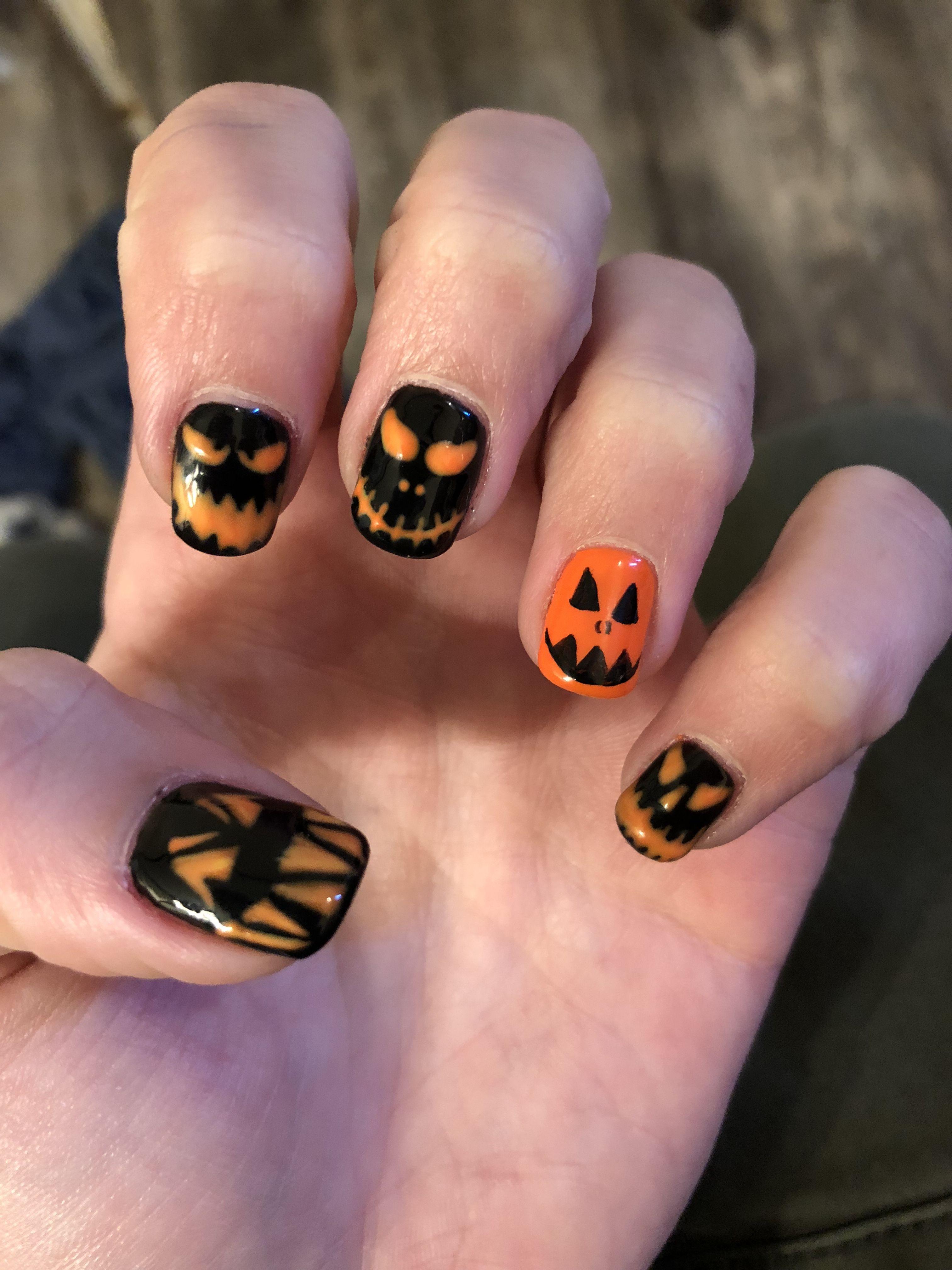 Halloween Gel Nails! | Halloween nail designs, Halloween ...