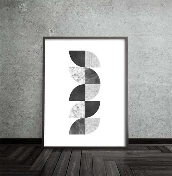 Modern Art Print Geometric Abstract Art Poster Mid Century Modern Minimalist Contemporary By Printpressfmt On Etsy Arte