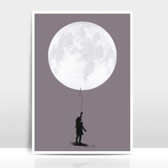 "A4 Artprint ""Moonballoon"""