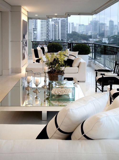 Christina Hamoui Design de Interiores Condo Living Decoração de - balcones modernos