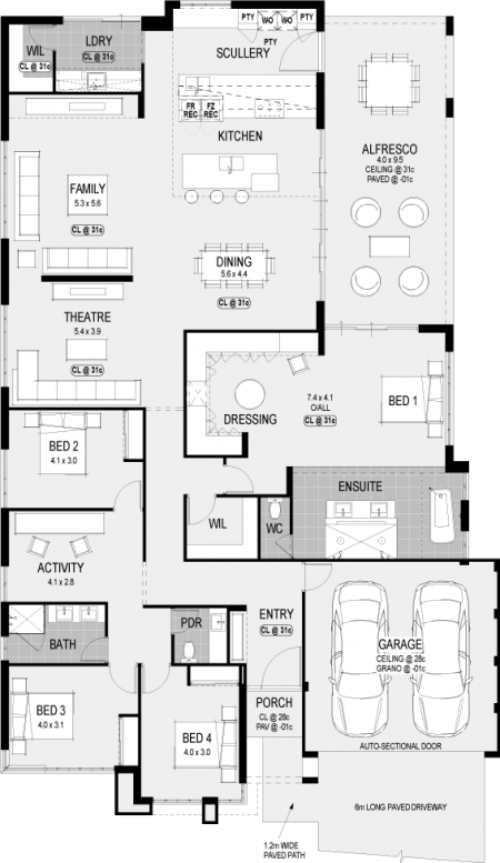 A Floorplan For The Atlanta Platinum Another New Display Home From Hgwa Hgwaliving Home Design Floor Plans New House Plans Floor Plans