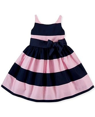 Polo Ralph Lauren Little Girls  Sateen Dress - Kids - Macy s-g ... 51db860621ed