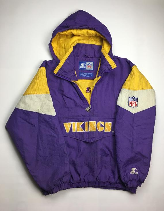 huge selection of c6bab 9c647 90s Vintage Minnesota Vikings Starter Windbreaker Jacket ...