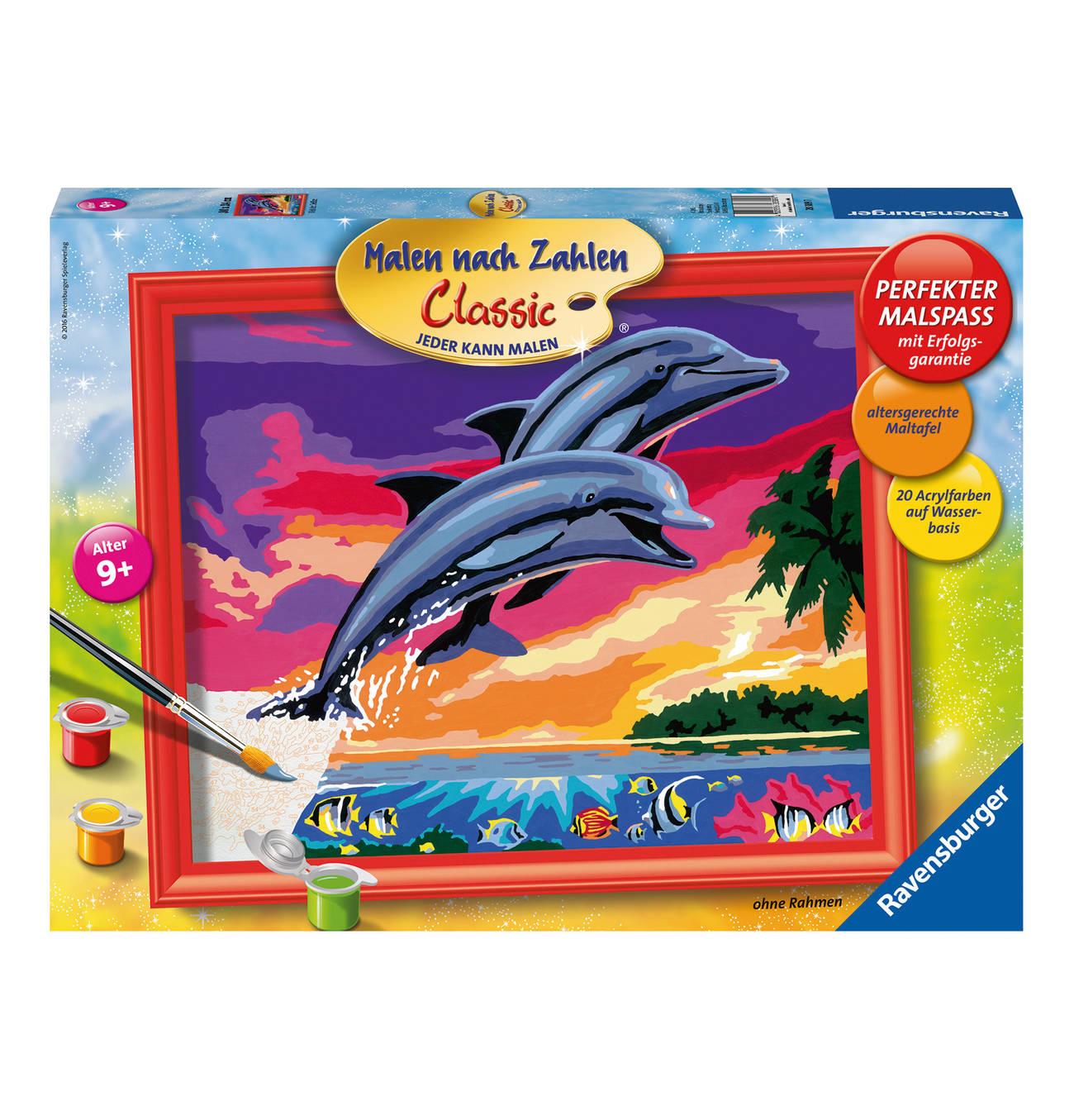 Classic Welt Der Delfine Malen Nach Zahlen Spielzeug Nach Alter Malen