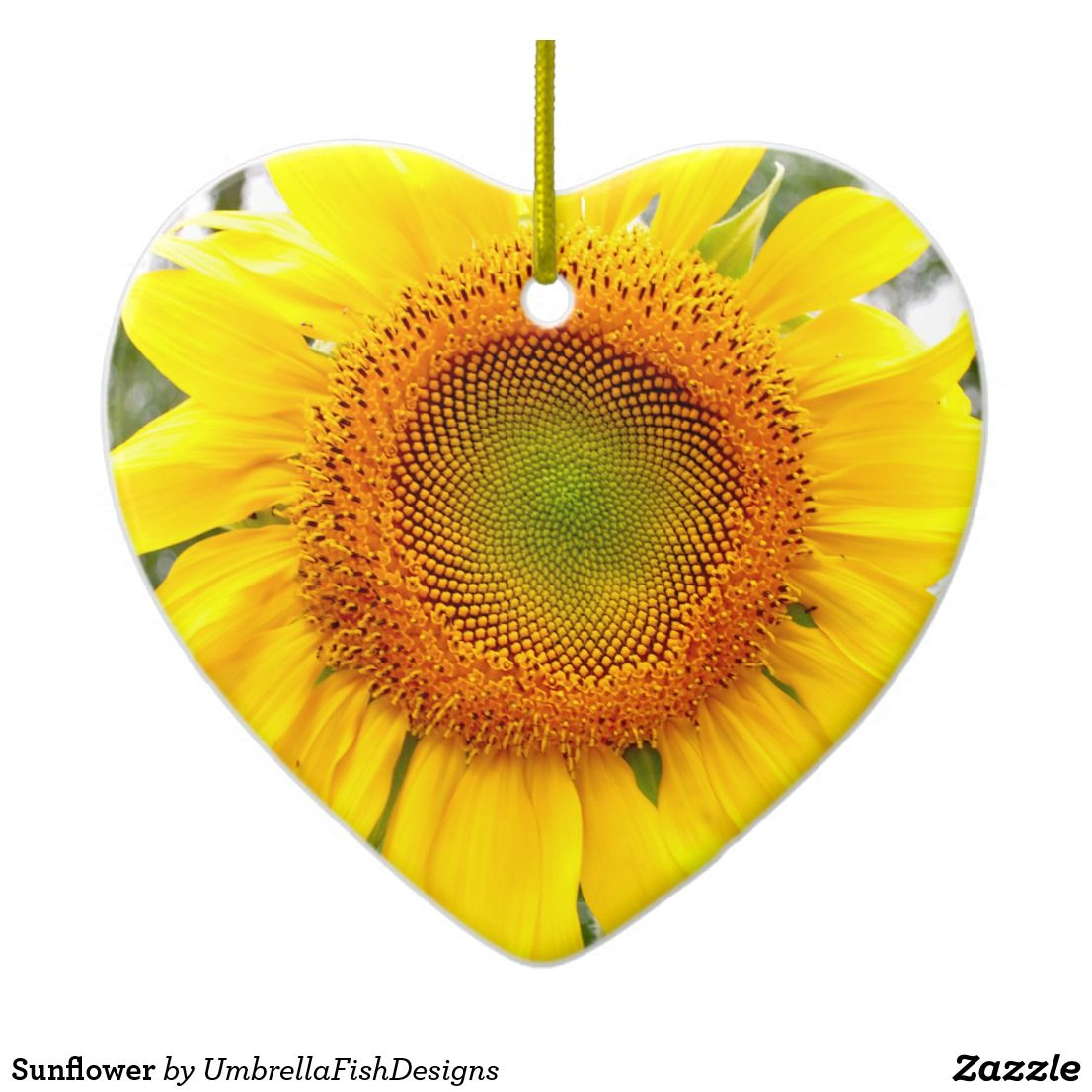 Sunflower Ceramic Ornament Holiday gifts, Holiday