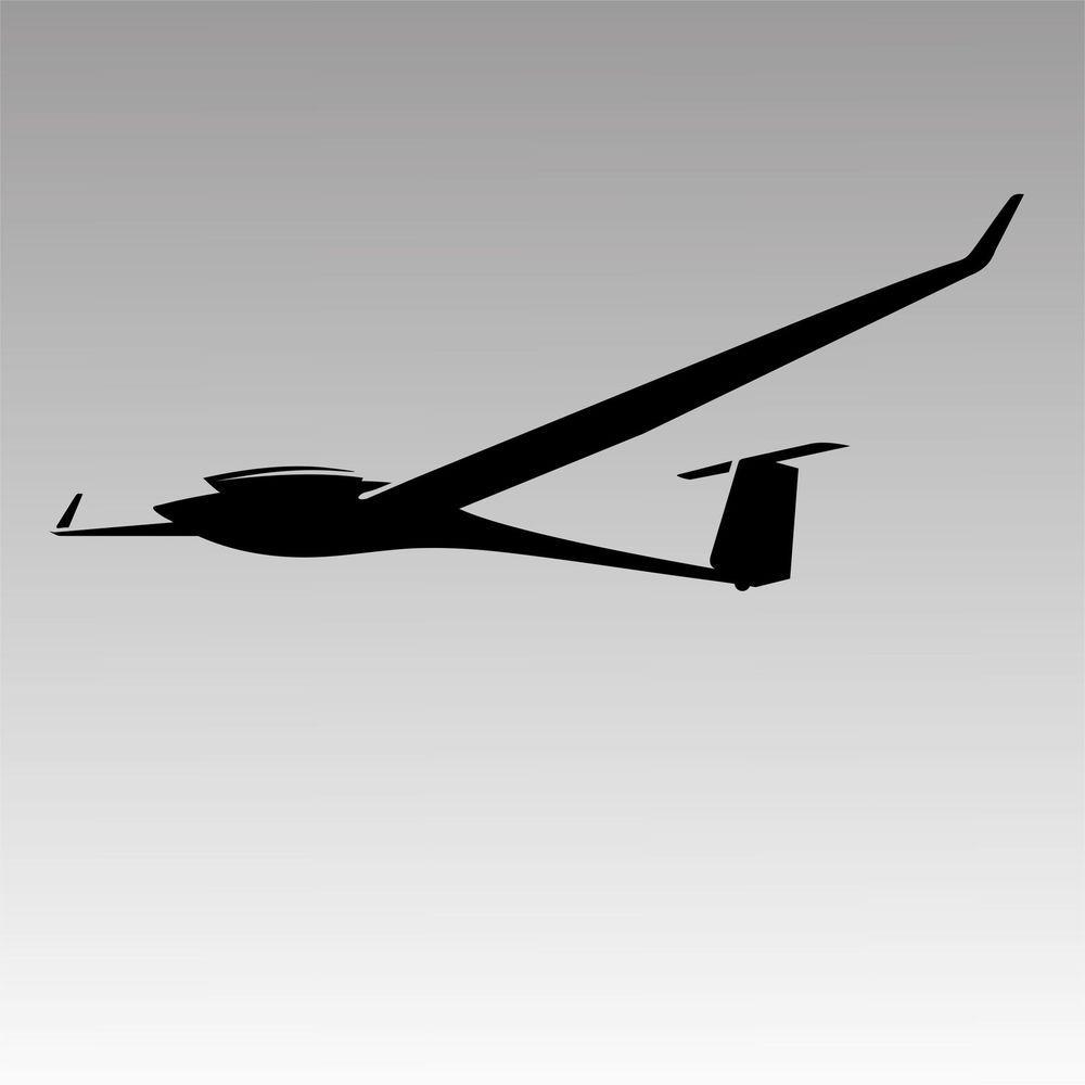 Glider Plane Decals Gliders Aircraft Pilot [ 1000 x 1000 Pixel ]
