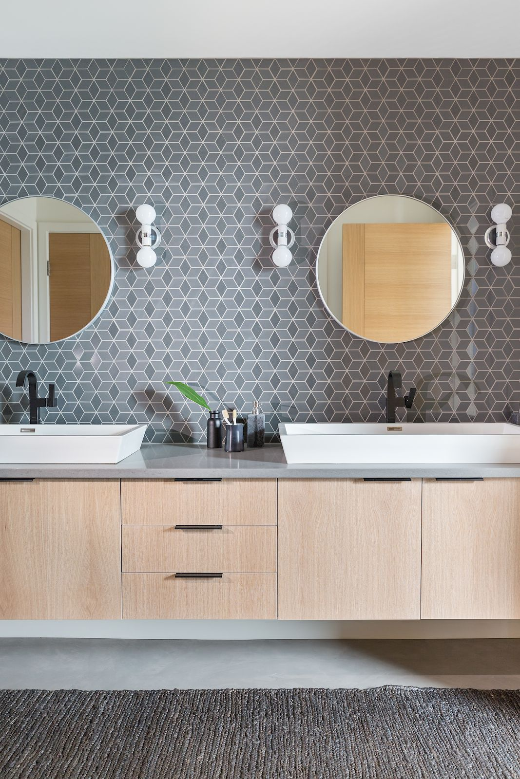 Project Reveal: Modern Boys Bathroom | Pinterest | Badezimmer ...