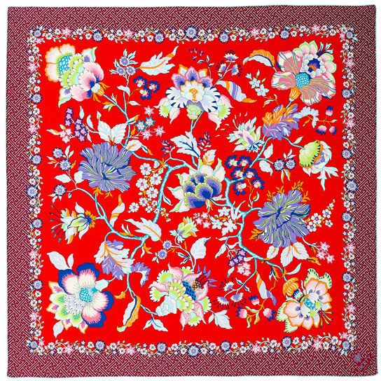 28a5edc79 Liberty of London Designs Red Liberty London Christelle Silk Twill Scarf on  shopstyle.co.uk