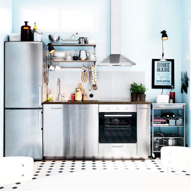 cuisine industrielle les l ments d co avoir. Black Bedroom Furniture Sets. Home Design Ideas