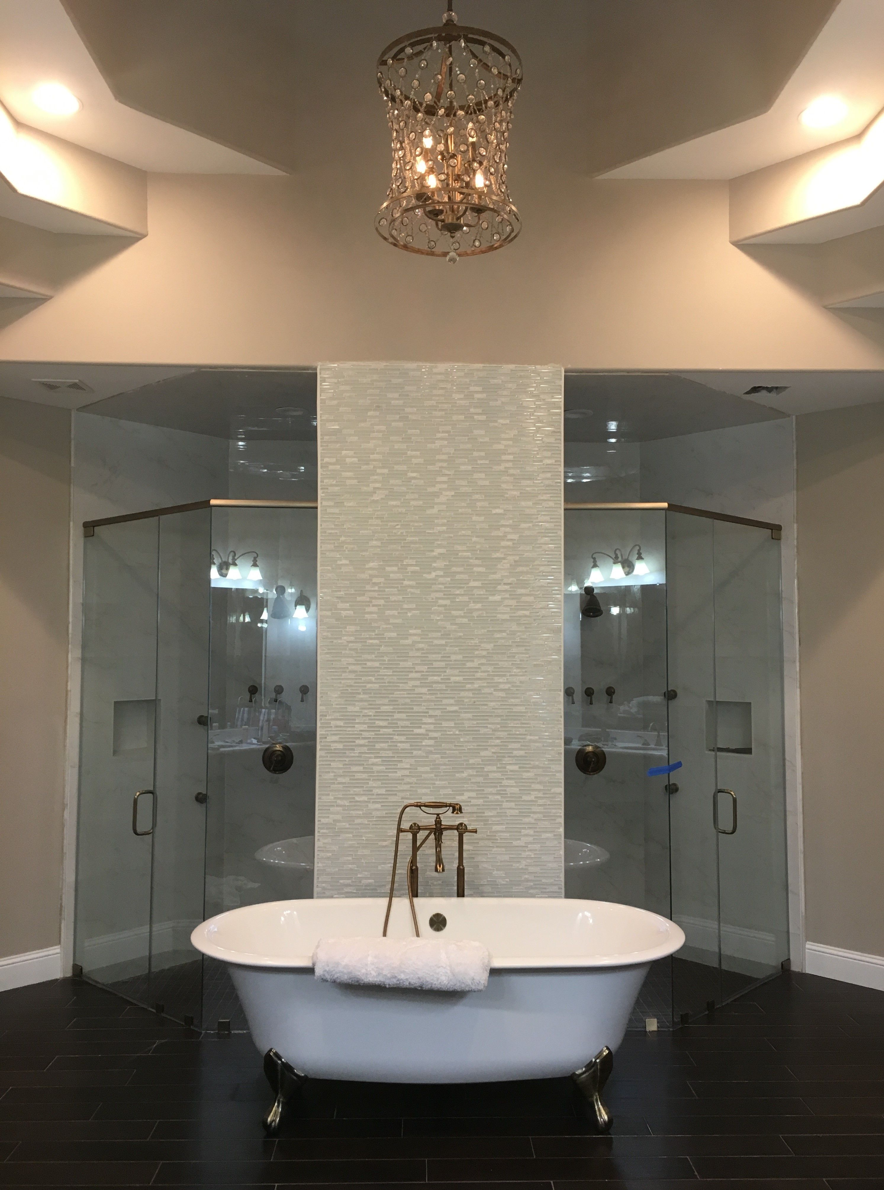 Custom Made 38 Clear Showerguard Glass Shower Enclosure By Century