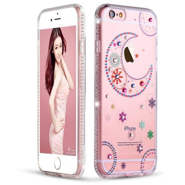 Coque pour iPhone 6 6S 6 plus Coque Transparente, strass   Iphone ...