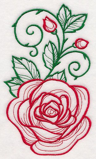 Machine Embroidery Designs At Embroidery Library Rose Embroidery Designs Machine Embroidery Designs Floral Embroidery Patterns