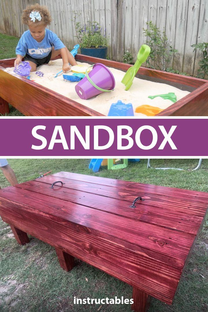 Diy sandbox in 2020 diy sandbox sandbox wooden sandbox