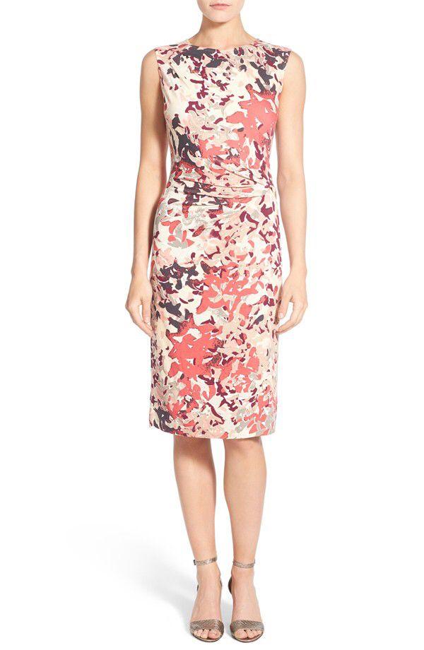 NIC+ZOE NIC+ZOE \'Petal Showers\' Twist Sheath Dress (Regular & Petite ...